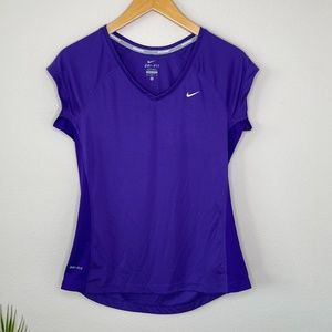 Nike Miler Dri-Fit Running Purple T-Shirt Size M